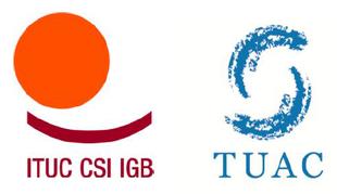 Logo von ITUC und TUAC