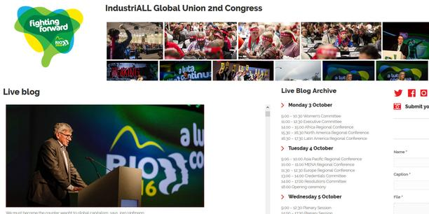IndustriALL Kongress Homepage