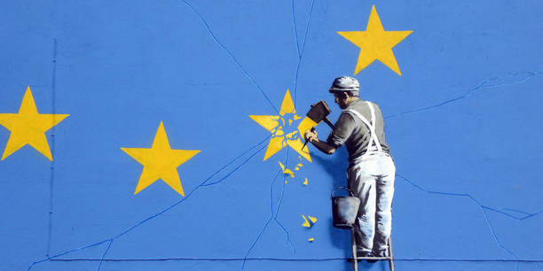 Brexit-Grafitti von Banksy in Dover