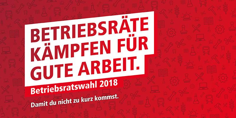 Logo Betriebsratswahl 2018: Betriebsräte kämpfen für Gute Arbeit