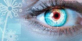 Auge als Symbol für Digitalisierung