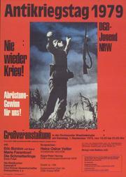 Ankündigungsplakat DGB NRW Antikriegstag 1981