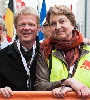 Reiner Hoffmann, Annelie Buntenbach, DGB