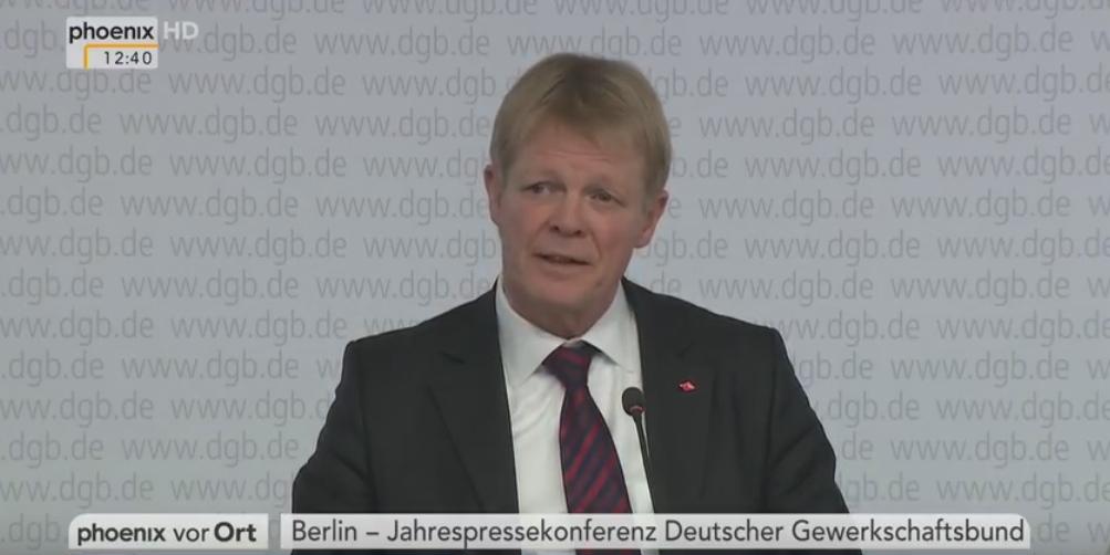 Statement des DGB-Vorsitzenden Reiner Hoffmann bei der Jahrespressekonferenz des DGB