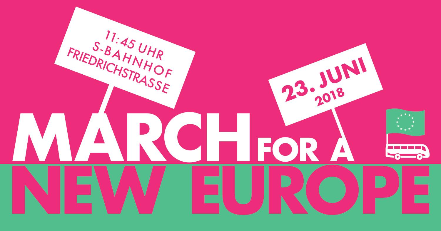 "Logo ""March For A New Europe"""