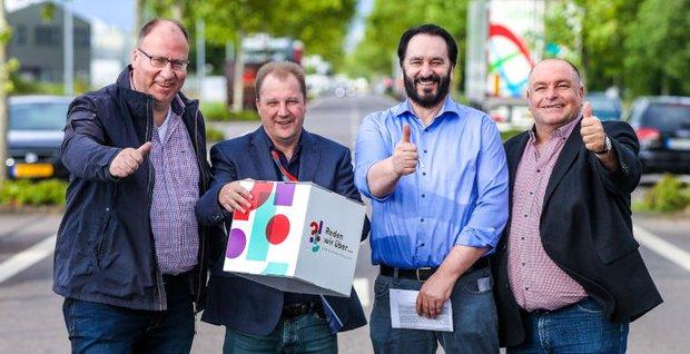 Stefan Strohm, Andreas Clemens, Jürgen Keipinger und Gerd Willems vom Arbeitskreis Trier-Monaise