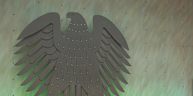 Bundesadler im alten Bonner Bundestagsplenarsaal