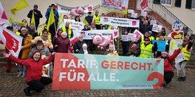 DGB unterstützt ver.di bei Aktion für Tarifvertrag bei Pro Seniore in Bad Bergzabern