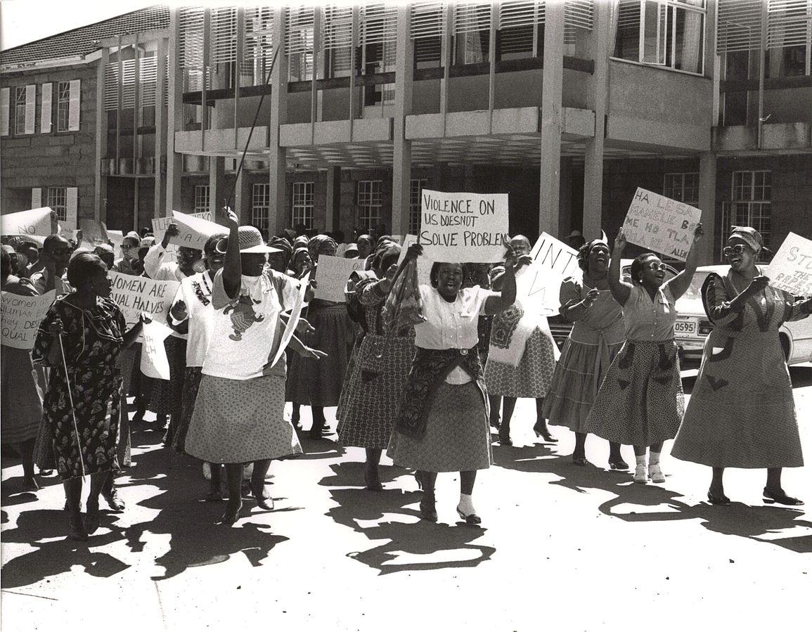 Frauenproteste zum Frauentag in Lesotho (2008)