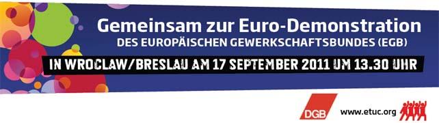 Aufruf zur Eurodemo in Wroclaw/Breslau am 17.09.2011