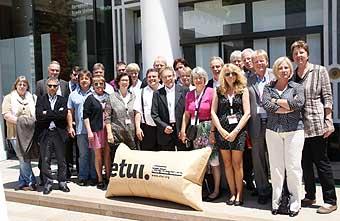 Die deutsche Delegation in Athen