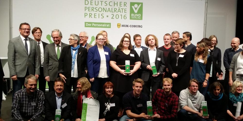 Gewinnererinnen und Gewinner Deutscher Personalräte-Preis 2016