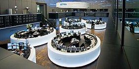 Blick in den Börsensaal in Frankfurt am Main