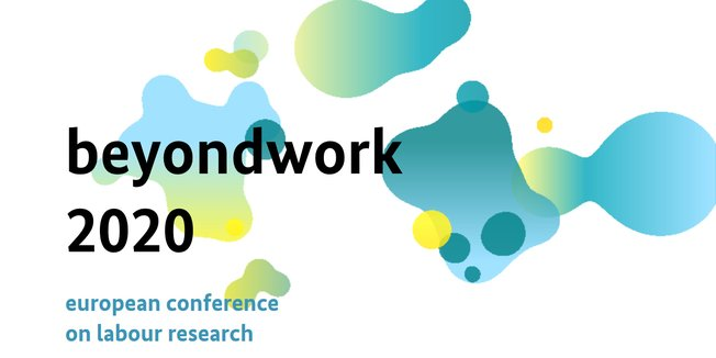 "Logo mit Text ""beyondwork 2020 - european conference on labour research"""