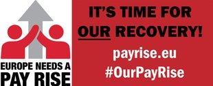 Logo EGB Pay Rise Kampagne