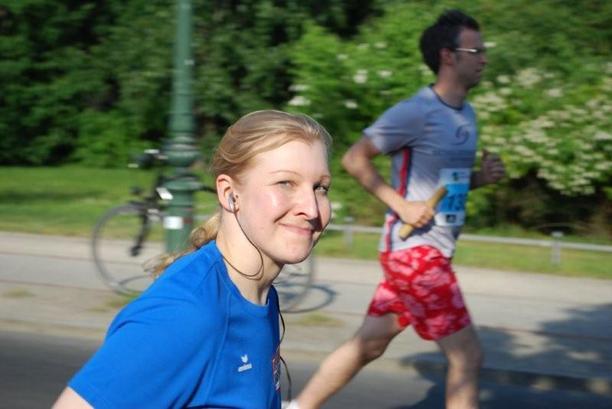 DGB-Teilnehmerin beim 5x5 km Staffelllauf