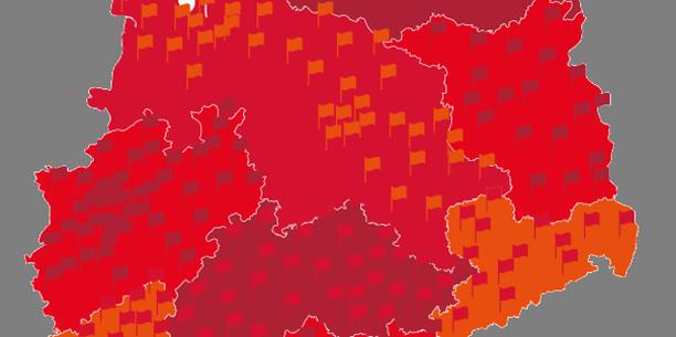 Deutschlandkarte, Fahnen