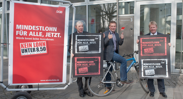 Auftakt-Aktion Mindestlohn am 1.4.2014