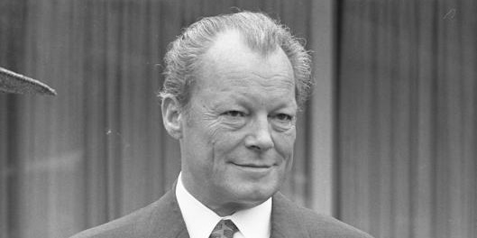 Portrait Willy Brandt s/w