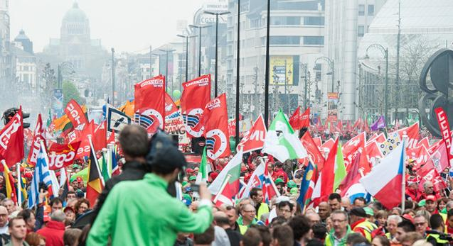 Demo Brüssel EGB