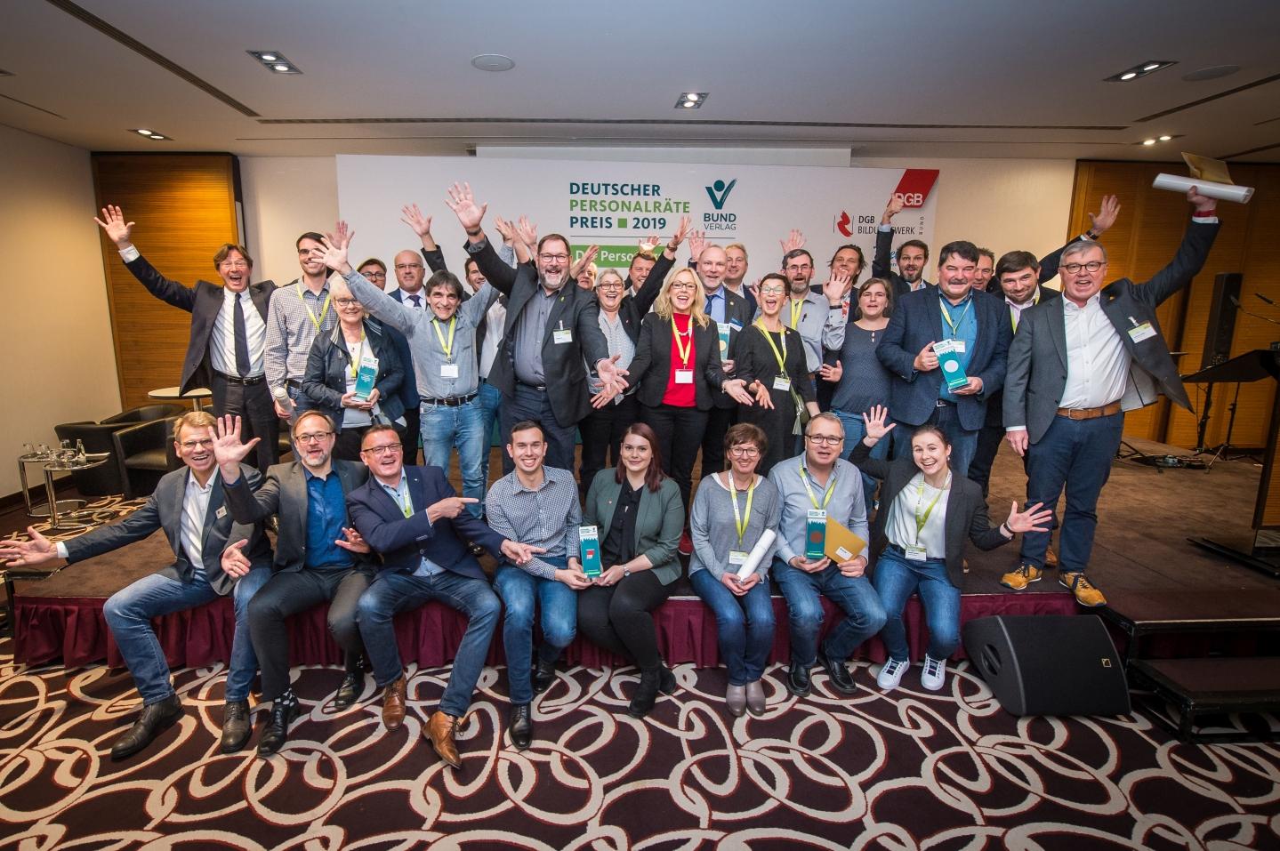 Preisträger, Nominierte, Jury und Ausrichter des Deutschen Personalräte-Preises 2019