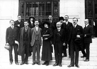Delegierte der ersten Sitzung der Internationalen Arbeitskonferenz, Washington DC, USA, 1919