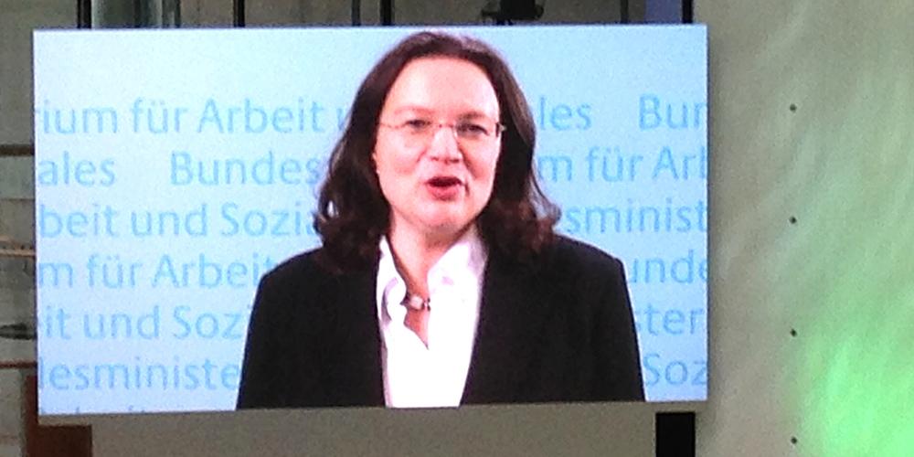 Andrea Nahles, Deutscher BetriebsräteTag 2016