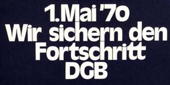 DGB 1. Mai-Aufruf 1970
