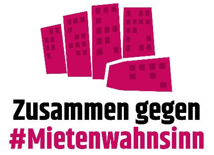 Grafik Gebäude in Faust-Optik: Zusammen gegen Mietenwahnsinn!