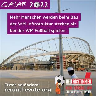 Neu Abstimmen Kampagne gegen die FIFA WM