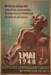 1. Mai-Plakat 1948 Wir sind eine mächtige Kraft