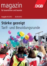Titel Beamtenmagazin 4/2012
