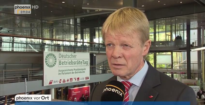Video: Reiner Hoffmann, Phoenix, Deutscher Betriebsrätetag 2015