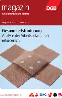 Titelbild Beamtenmagazin 1/2012