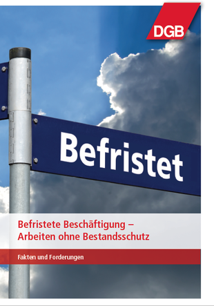 Deckblatt Broschüre Befristete Beschäftigung