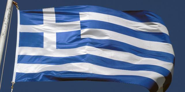 Fahne Griechenland, griechische Fahne weht