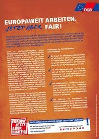 Vorschaubild factsheet Faire Arbeit in Europa