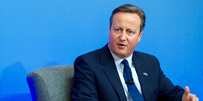 """David Cameron, britischer Premierminister, im Mai 2016 in London beim """"Anti-Korruptionsgipfel"""""""