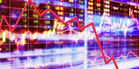 Grafik Abwärtskurs an der Börse
