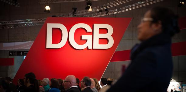DGB-Schild auf Bundeskongress