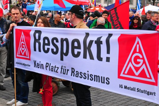 IG Metall beim 1. Mai in Stuttgart