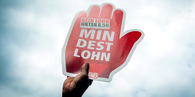 Mindestlohn-Demonstration