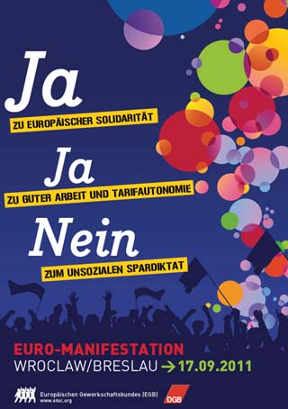 Aufruf zur Demonstration des EGB am 17.09. in Wroclaw/Breslau