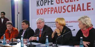 Pressekonferenz Köpfe gegen Kopfpauschale
