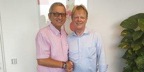 DGB-Chef Reiner Hoffmann und Gershon Gelman, Vorsitzender der israelischen Gewerkschaften im Bezirk Tel Aviv