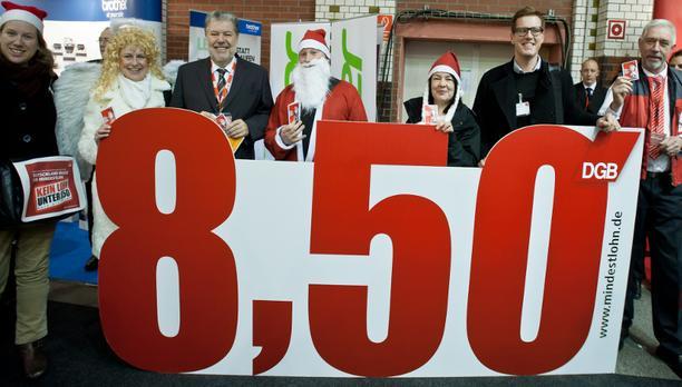 SPD-Parteitag in Berlin - Mindestlohnengel