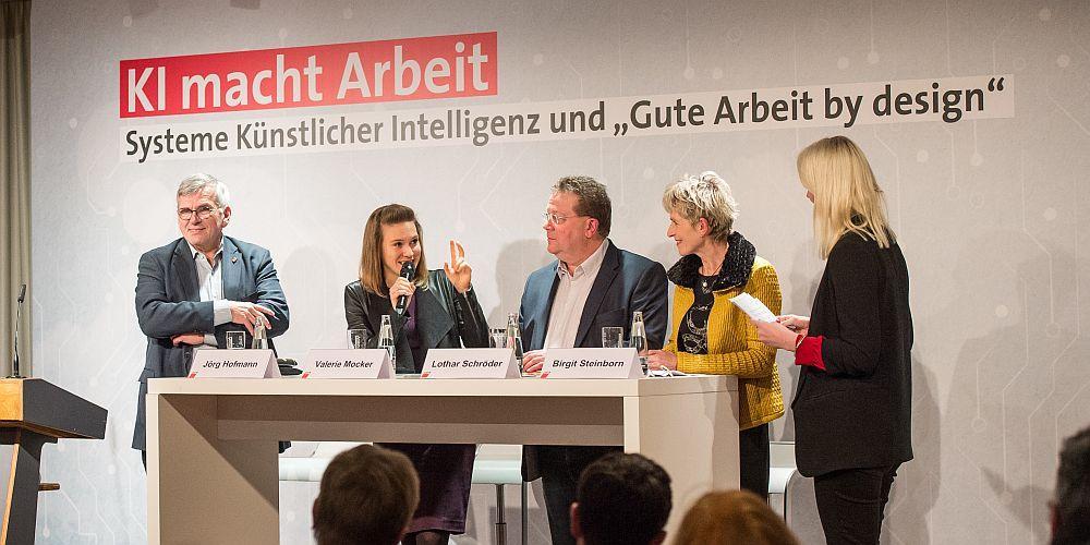 Panel bei KI macht Arbeit 15.01.2019 in Berlin