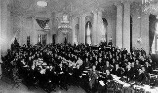 Delegierte in einer Plenarsitzung der ersten Sitzung der IAO, Washington DC, USA, 1919