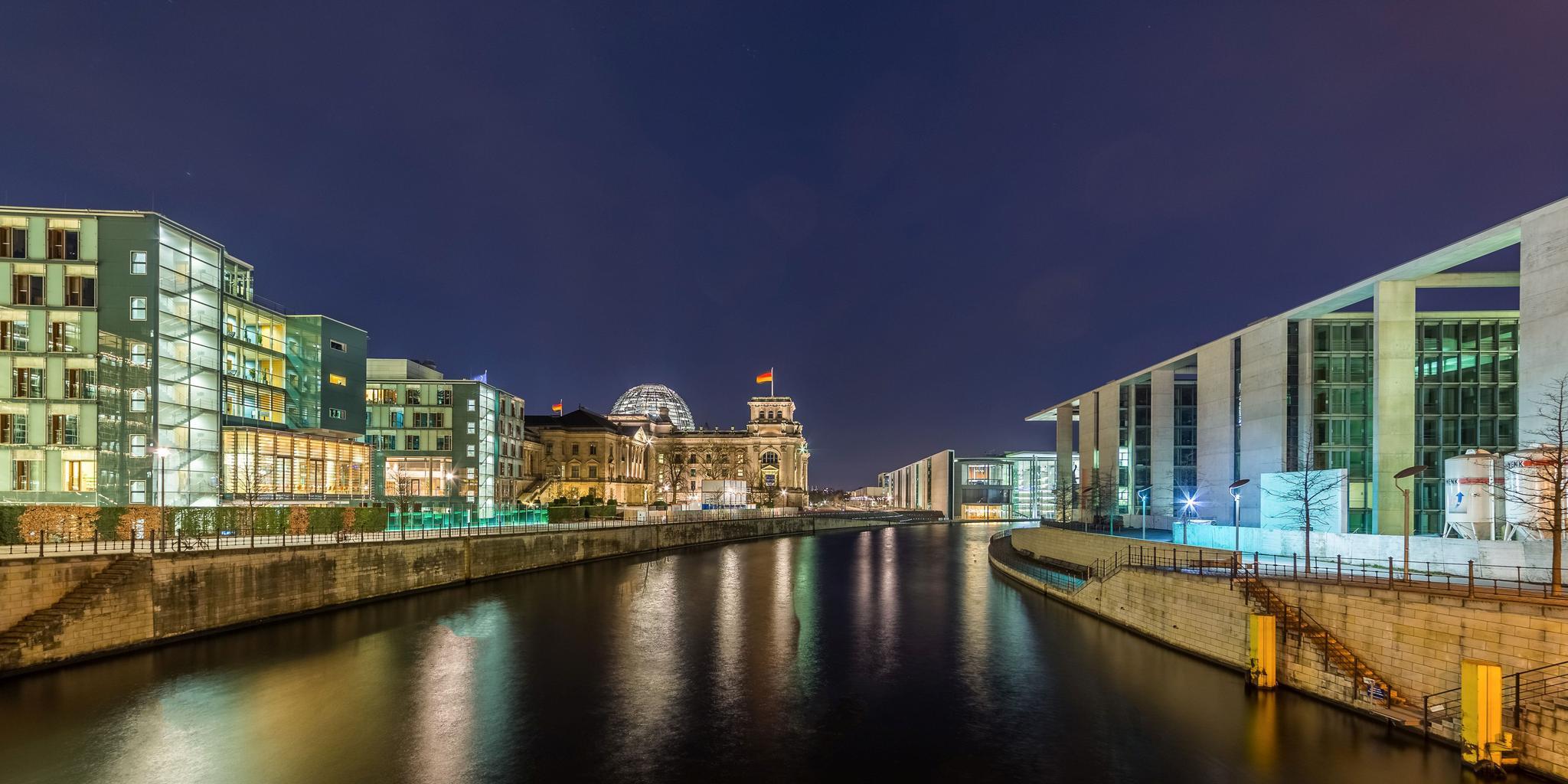 Das Regierungsviertel in Berlin