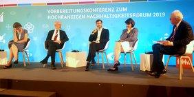 Podium Vorbereitungskonferenz Nachhaltigkeitsgipfel